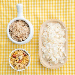 Hojuela de maíz, cebada y granola